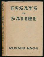 Essays in satire